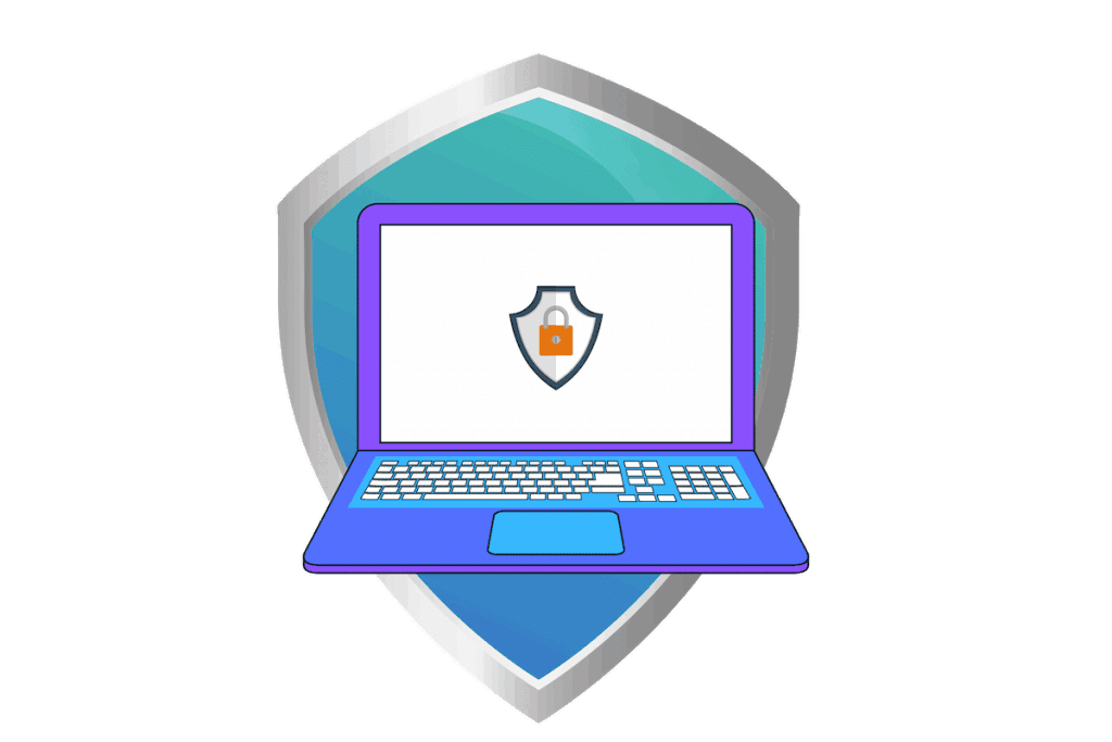 Vector icon of website security