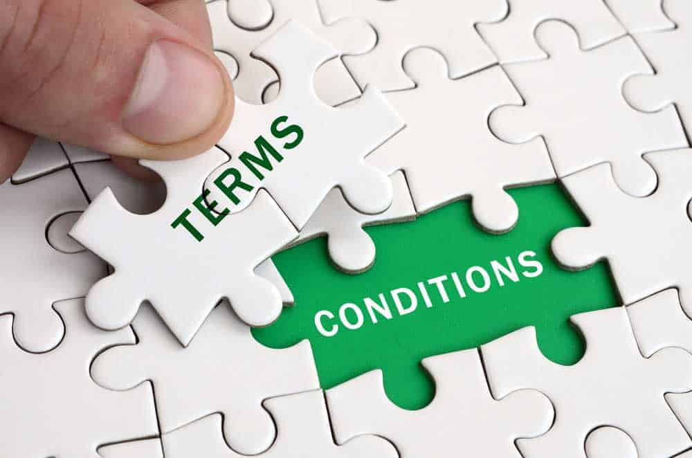 terms and conditions jigsaw