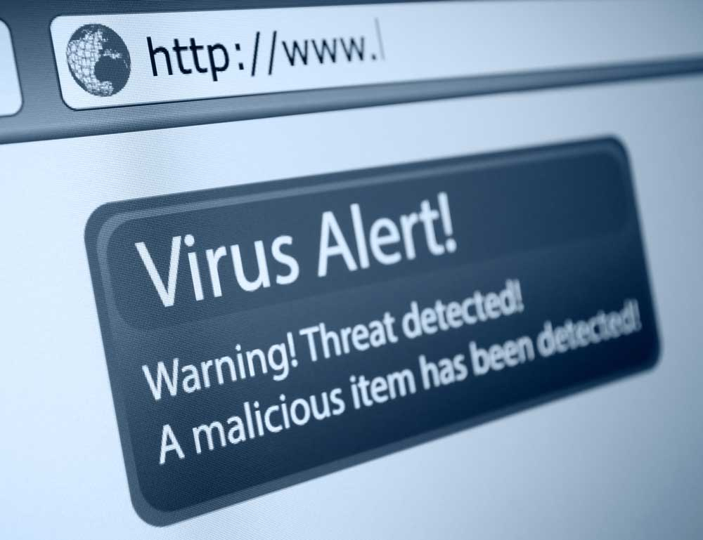 virus alert a computer with malware