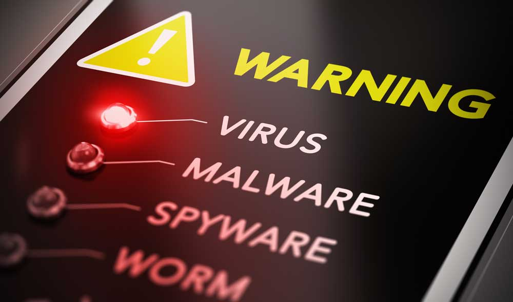 warning signs infected with malware
