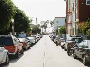 cars parking on the streets