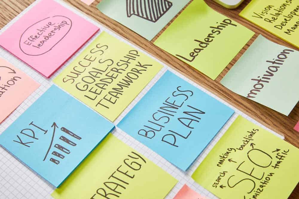 post it notes about business success