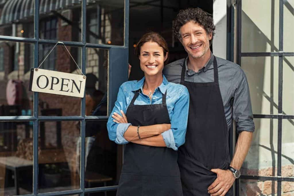 Couple opening a business