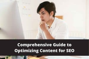 Man Writing a Comprehensive Guide to Optimizing Content for SEO